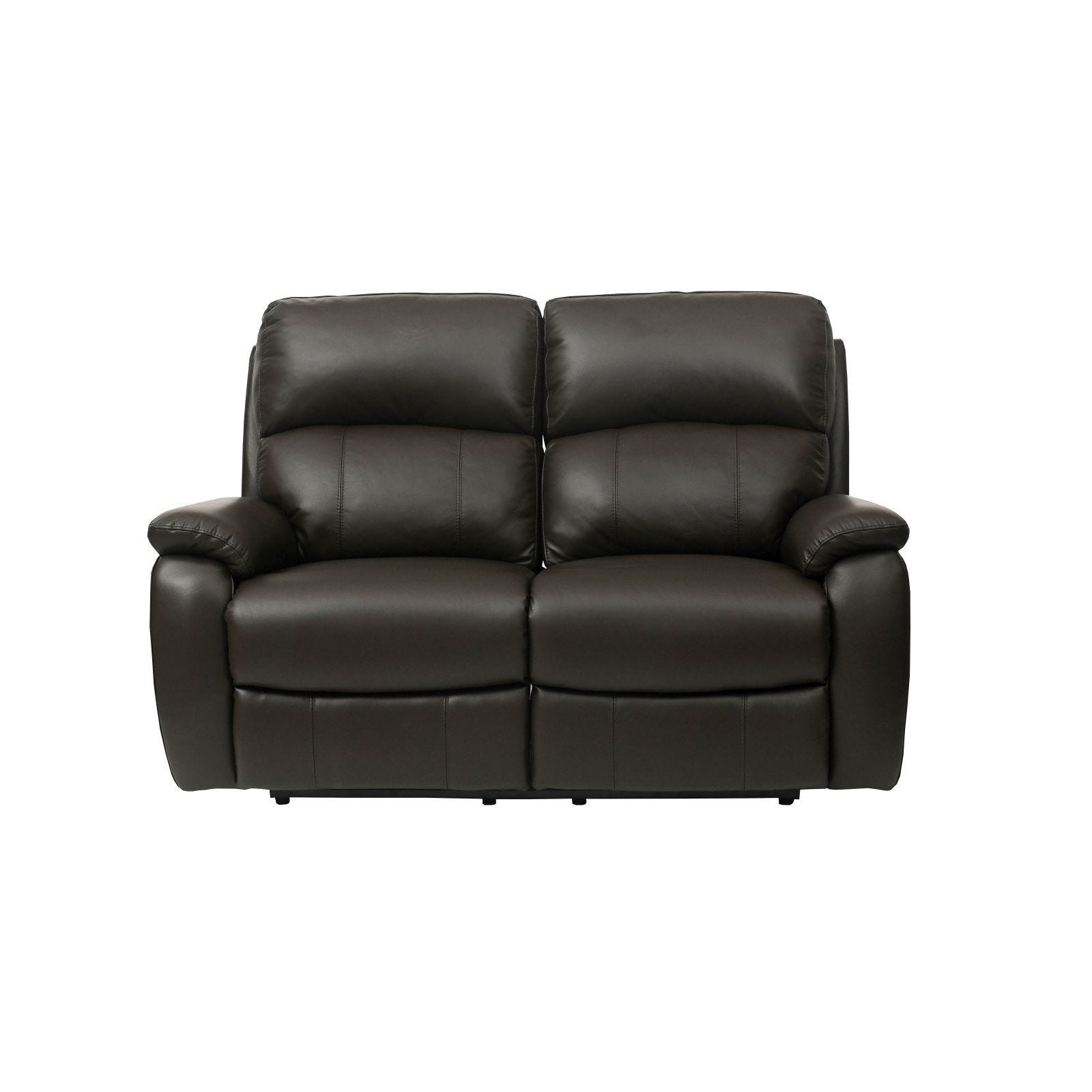 Brown Full Leather Recliner Sofa
