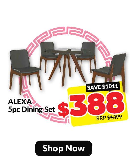 Alexa 5 piece dining set