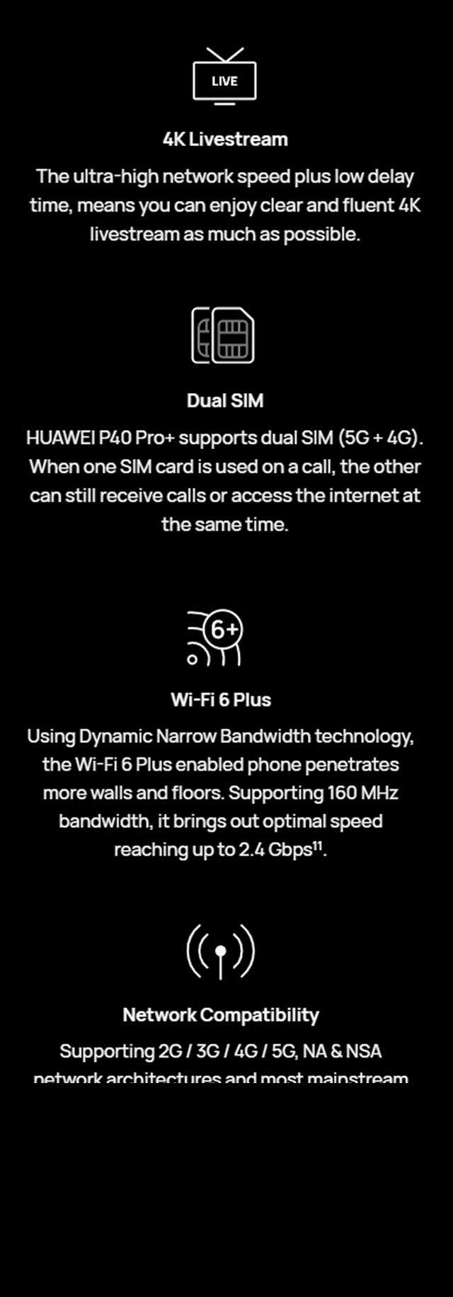 4K Livestream, Dual SIM Plus eSIM, Wi-Fi 6 Plus, Network Compatibility