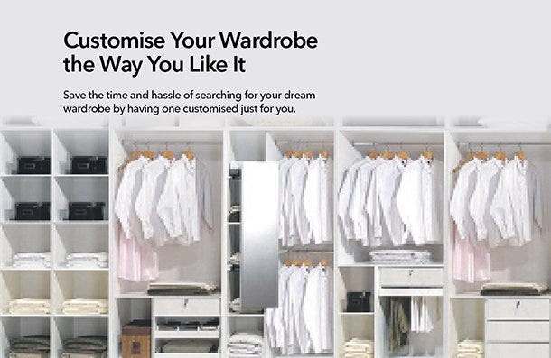 Wardrobe customisable