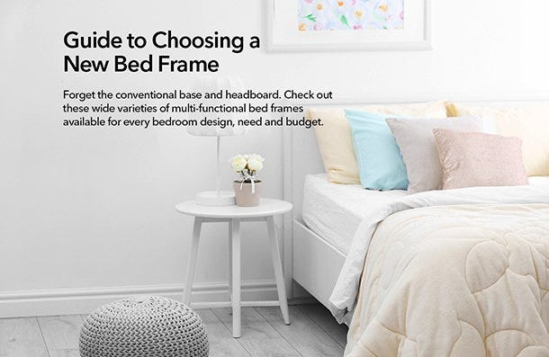 Guide to choose a new bed frame