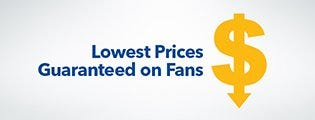 COURTS guarantee lowest prices on fans