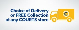 Fan free delivery and free collection at the COURTS store