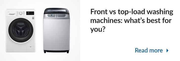 Front vs Top-load Washing Machines Mega Menu Banner