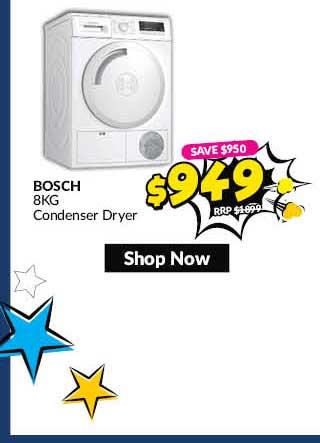 BOSCHWTN84201MYCONDENSER DRYER (8KG)