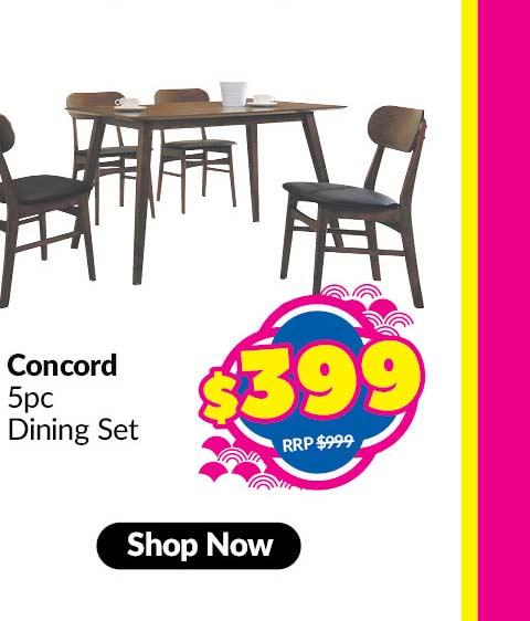 CONCORD 5 PIECE DINING SET