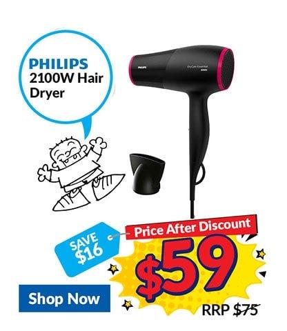PHILIPS HAIR DRYER (2100W)