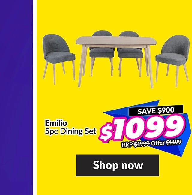 EMILIO 5 PIECE DINING SET