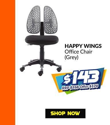 HAPPY WINGS OFFICE CHAIR - GREY