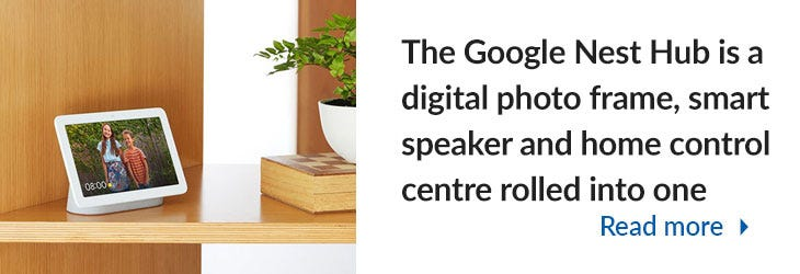 Google Nest Hub Mega Menu Banner