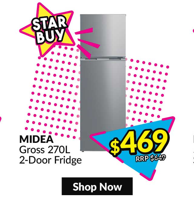Midea Two Door Fridge