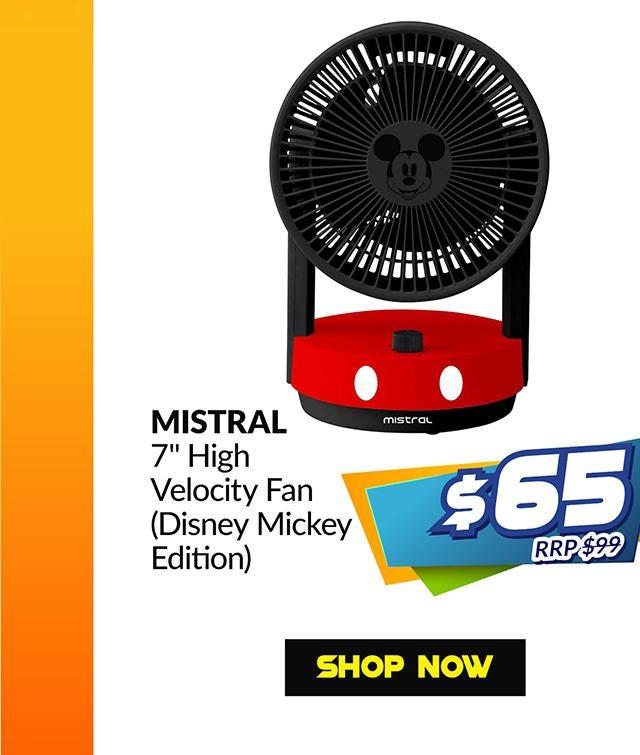 MISTRAL MHV70-MK 7IN HIGH VELOCITY FAN (MICKEY DISNEY EDITION)