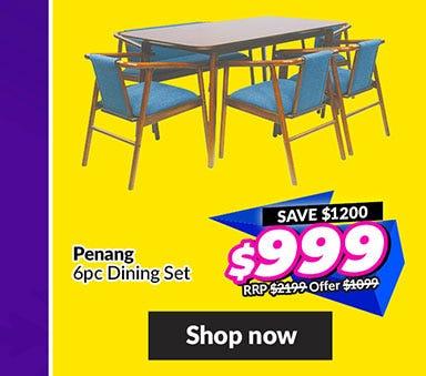 PENANG 6 PIECE DINING SET