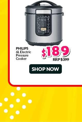 PHILIPS ELECTRIC PRESSURE COOKER (6L)