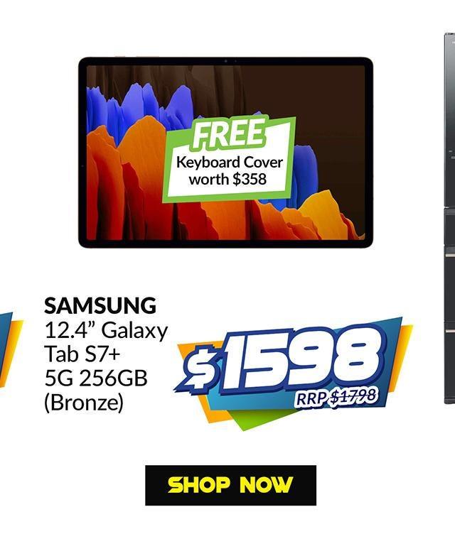 SAMSUNG SM-T976BZNEXSP (BRONZE) 12.4 IN GALAXY TAB S7+ 5G 256GB