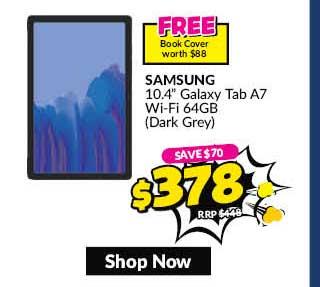 SAMSUNGSM-T500NZAEXSP 64GB DARK GRAY10.4-INCH GALAXY TAB A7 WIFI