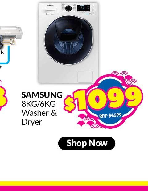 SAMSUNG WASHER & DRYER (8KG/6KG)