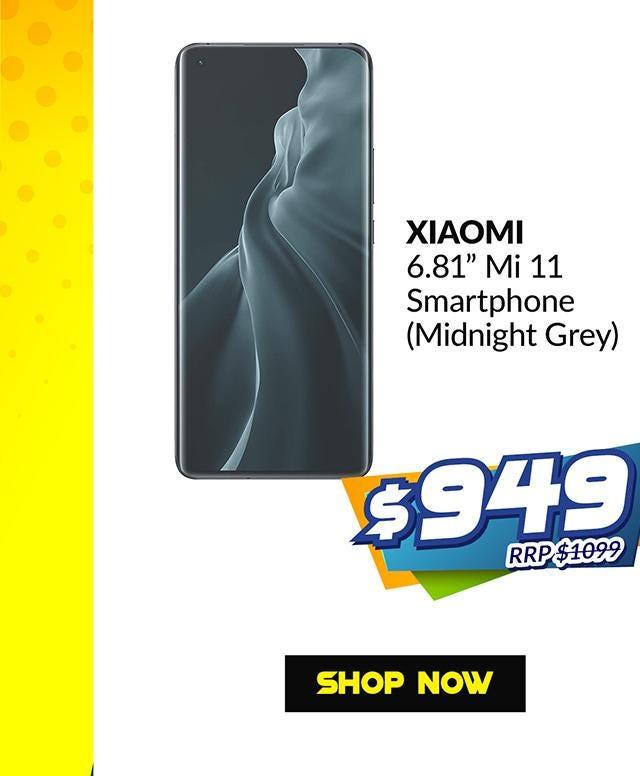 XIAOMI HXM-M11-256-GRY-EU 6.81 INCH MI 11 (MIDNIGHT GRAY)